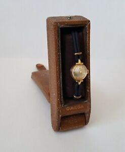 Ladies Vintage 1956 .750 18ct Gold Manual Winding Omega Cocktail Watch & Box