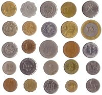 25 COINS FROM DIFFERENT ASIAN COUNTRIES. OLD VALUABLE COLLECTIBLE COINS.
