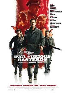 """""""INGLOURIOUS BASTERDS"""" Movie Poster [Licensed-NEW-USA] 27x40"""" Theater Size"""