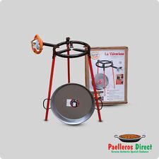 38cm Spanish Paella Pan & 30cm Gas Burner Kit / Set