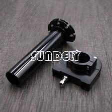 "AU CNC Aluminum Universal Motorcycle Twist Throttle Assembly 7/8"" 22mm Black"