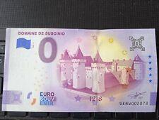 BILLET EURO SOUVENIR 2021-1 DOMAINE DE SUSCINIO ANNIVERSAIRE