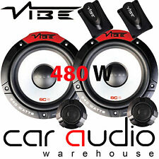 "VIBE PULSE 6C 480 Watts a Pair 6.5"" 17cm 165mm Car Van Door Component Speakers"