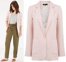 Warehouse NEW Soft Boyfriend Jacket in Pink Size 6 to 18