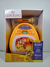 NEW Disney Lion King Bluetooth MP3 Karaoke Machine with Light Show & Store Music