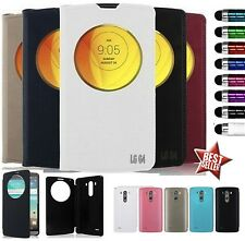 COVER CUSTODIA FLIP CASE QUICK CIRCLE LIBRO per LG OPTIMUS G4 H815 + PENNINO