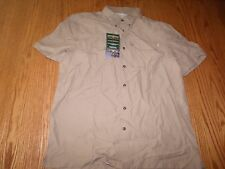 NWT MENS FIELD & STREAM UNIVERSAL TRAVEL SHIRT KHAKI TAN L LARGE FISHING