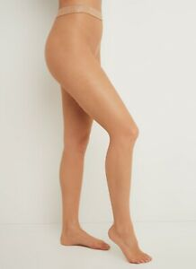 """Wolford Collant résille """"Twenties"""" - Honey - Large"""