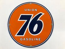 Union 76 Gasoline Porcelain Advertising Sign
