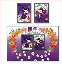 TUV9602 Rodents - two mice block and 2 stamps