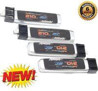 PowerHobby 1S 3.7V 210Mah 45C Lipo Battery (4) : HobbyZone Sport Cub S
