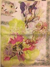 "NWT Roberto Cavalli Silk Scarf 26"" x 70"" Made in ITALY Multi-colored MSRP: $350"