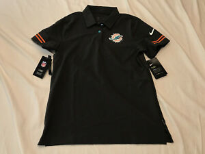 NWT Women's Nike Miami Dolphins on-field Dri-fit Golf Polo CJ9870-060 Size Small