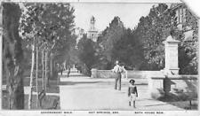 Government Walk, Hot Springs, Arkansas Bath House Row 1908 Vintage Postcard