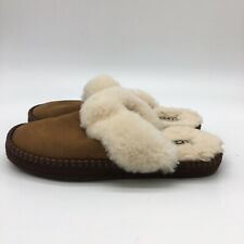 womens ugg slippers, Brown Suede With Fur Lining, Size 5.0