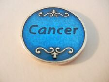 Cancer Medal Token Blue Enamel with Quote   New!   MADE IN ITALY!