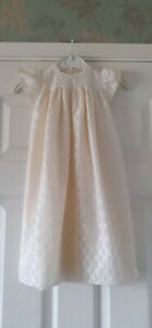 Vintage Ivory 1980s Babys Christening Gown