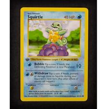 Squirtle 63/102 1st Ed First Edition Base Set Pokemon Card