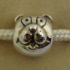 Authentic Chamilia Retired Sterling Silver Puppy Dog Head  Bead Charm Gb-8 New