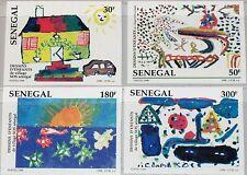 Sénégal 1998 1563-66 u 1318-21 imperf sos Childrens village partait art MNH