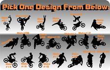 "18"" Motocross Jump Decal MX Race Trick Room Wall Trailer Dirt Bike Moto Cross"