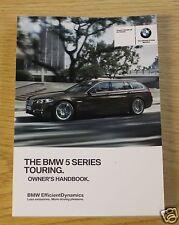 BMW 5 SERIES F11 TOURING GENUINE HANDBOOK OWNERS MANUAL 2013-2015