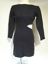 Ladies Navy Sparkle Dress Size Small Bodycon Wiggle Dress