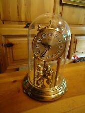 Hermle Jahres Uhr aus Glas und Messing