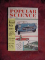 POPULAR SCIENCE Magazine February 1956 Annual Auto Issue Chevrolet Corvette
