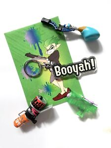 Booyah! Splatoon 2 Keychain Charm Awesome Inkling Nintendo Switch Game Cool