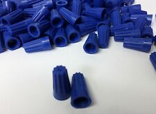 (500 pc) *NEW* Small Blue Screw Nut Wire Connectors TWIST ON Barrel 22-14 AWG