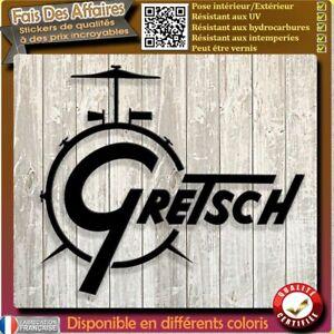 sticker autocollant gretsch drums logo tambours gretsch batterie