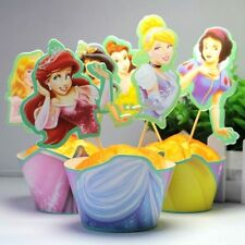 Princess Theme Birthday Party Cupcake Decoration 24pcs Wrappers & Toppers
