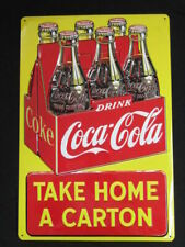 Ande Rooney Drink Coca Cola Coke Take Home a Carton Metal Tin Sign 12 X 17in