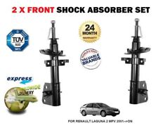 FOR RENAULT LAGUNA 2 MPV 2001--> 2X FRONT LEFT + RIGHT SHOCK ABSORBER SHOCKER