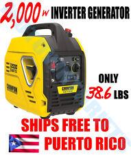 Champion Power Equipment 2000 Watt Inverter Generator ENVIO GRATIS A PUERTO RICO