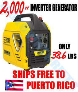 Champion Power Equipment 2000 Watt Inverter Generator ENVIO GRATIS A PUERTO RICO