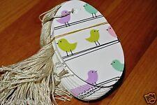 Lot Large 100 Little Birds Print 3 1/2 X 2 1/4 Merchandise Price Tags Strung