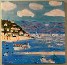 Listed Artist Alan Furneaux Impressionist Painting Giclee on Canvas Reduced