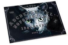 Clasic wooden Ouija Spirit Board game & Planchette. Cat halloween Magick Bizarre
