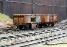 OO gauge abandoned coal wagons, heavily rusted and weathered