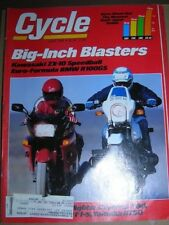 Vintage Cycle Magazine June 1988 Motorcycle ZX-10 SPEEDBALL BMW R100GS