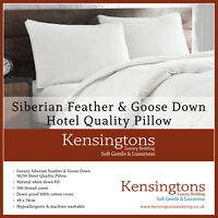"""Kensingtons® White Siberian Goose Feather & Down Pillows Hotel Quality (19""""x29"""")"""