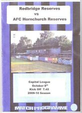 Redbridge Reserves v AFC Hornchurch Reserves  2009/10