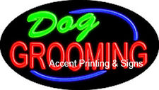 DOG GROOMING HANDCRAFTED REAL GLASSTUBE FLASHING  NEON SIGN