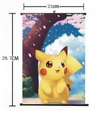 "Hot Japan Anime Pokemon Go Pocket Monster Pikachu Home Decor Wall Scroll 8""×12"""