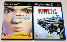 2 PS2 SPIELE BUNDLE - RESIDENT EVIL - OUTBREAK & CODE VERONICA - PLAYSTATION 2