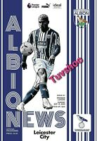 West Brom Albion v Leicester City PREMIER LEAGUE INAUGURAL MATCH 13/9/20!!!