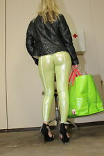 TrialLab CAMELTOE Leggings HL5AX LucidRubber Lime/Weiss - L