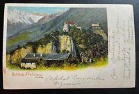 AK Litho Schloß Tirol b. Meran gestempelt Meran ca. 1900